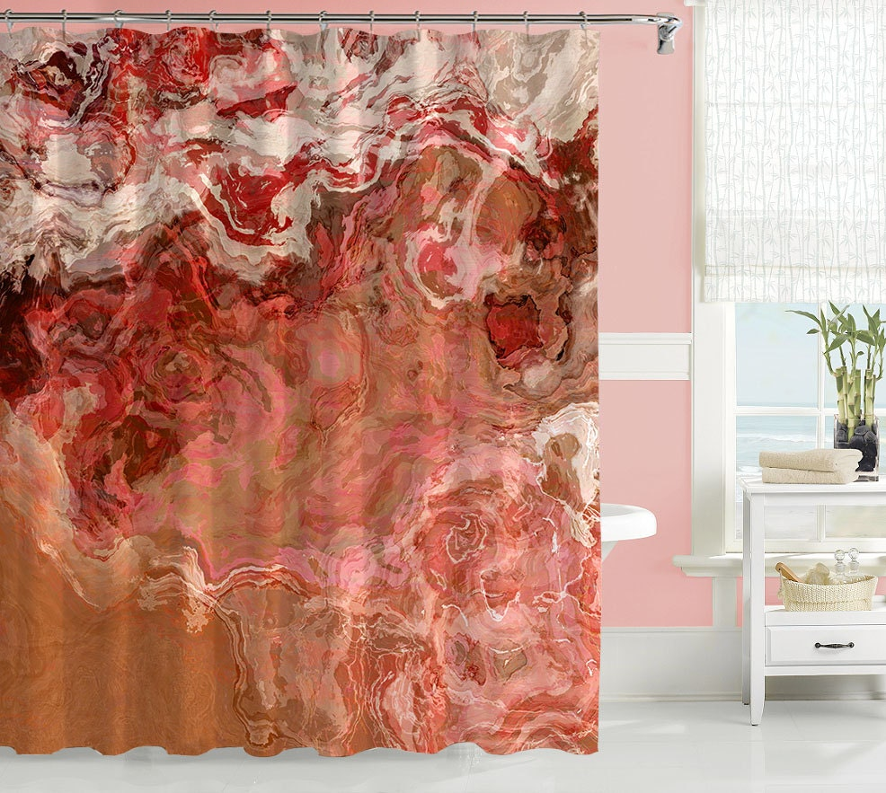 Abstract Art Shower Curtain Contemporary Bathroom Decor