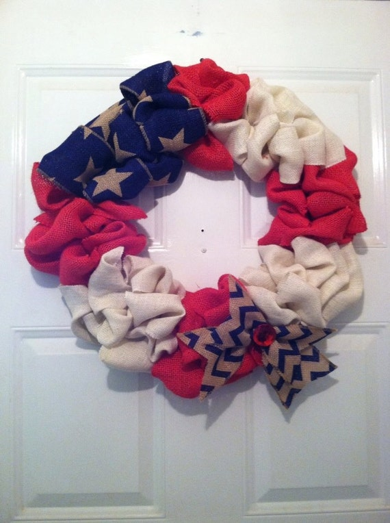 Patriotic Wreath, Patriotic Decor, Americana Wreath, Americana Decor, 4th of July Wreath, Memorial Day, Veterans Day Wreath, Summer Wreath