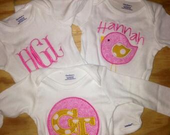 Baby Shower Gift Set: Three Onesies