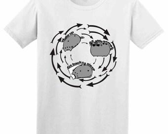Infinite Loop Awesome Slogan T Shirts