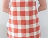 Apron Full Kitchen Apron Squared  Apron with Red and White Squares Red Gingham Pattern Baking Retro Gift for Her Unique gift