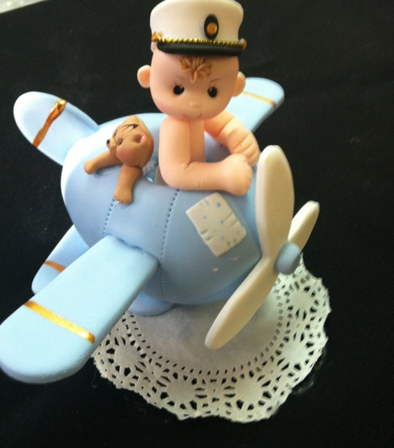 Airplane cake topper plane cake topper by caketoppersboutique for Airplane cake decoration