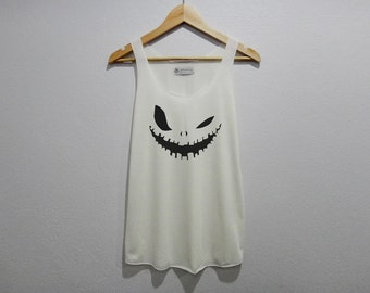 Pumpkin Carving Graphic Tank Top Women Size S M L