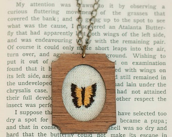 Embroidered Necklace -- Butterfly