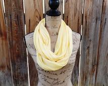 Super Soft Jersey Knit Infinity Scarf, Circle Scarf, Loop Scarf, Infinity Yellow Scarf, Loop Scarf