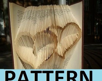 Pattern design intertwined hearts book folding original design