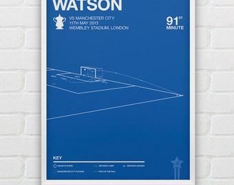 Ben Watson vs Manchester City Giclee Print -- [16]