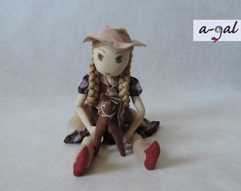 Annie – little cowgirl – cloth doll