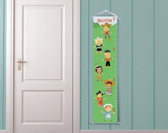 International Friends Personalized Growth Chart