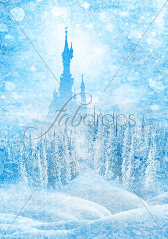 Frozen castle princess photo backdrop for birthday party birthday