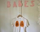 papaya shirt / white / papaya boobs