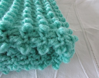 Mint Green Stroller blanket - Car seat blanket - Baby blanket - Crib blanket - Carriage throw - Mint Green blanket