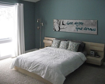 Chase After Your Dreams. - Painting on Reclaimed Barn Wood Wall Art