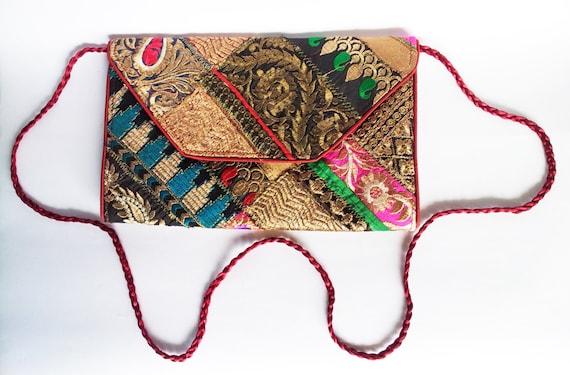 ... Wedding Bag/Tribal Bag/Embroidered Bag/Ethnic Bag/Colorful Bag/Indian