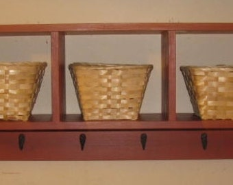 popular items for shelf with baskets on etsy. Black Bedroom Furniture Sets. Home Design Ideas