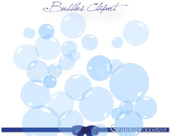 Digital Clip Art Bubbles - Clusters and Single Bubbles, Personal and Commercial Use, INSTANT DOWNLOAD