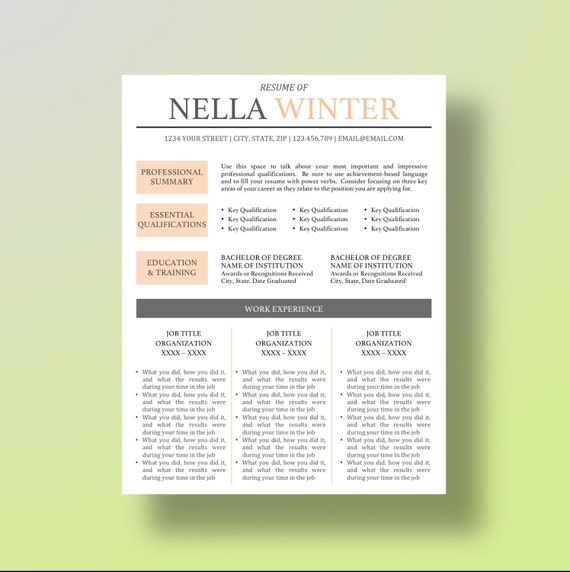 buy 1 get 1 free resume template cover letter by