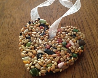 25 Rustic Birdseed Wedding Favors (Medium Size): Bird Seed Favor Hearts  Love Birds Tags Available