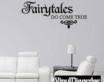 Fairytales Do Come True Princess Vinyl Wall Decal Or Car Sticker - Mv013ET