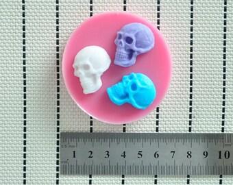 Skull mold, Halloween, fondant mold, chocolate mold, candy mold, soap mold, candy mold, resin mold