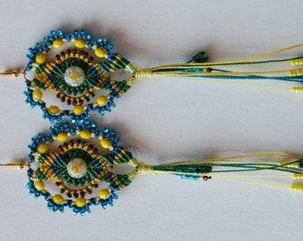 """TUTORIAL (EN) PDF micro macrame earrings """"Nawruz"""""""