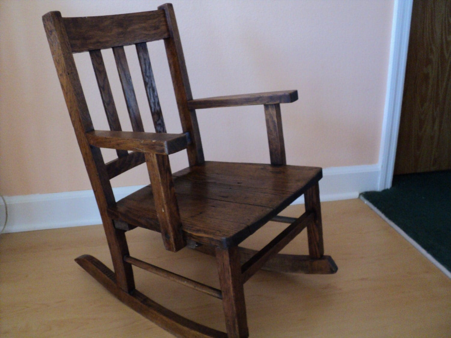 Vintage Child Rocking Chair Mission Style Armchair Rocker