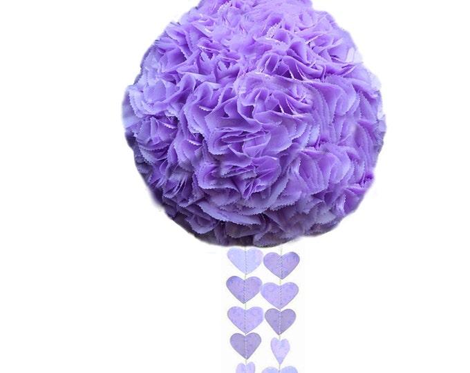 Wedding Piñata | Choose your color-  Pinata with slot | Purple Flower Ball | Pomander | Kissing Ball | Custom Colors