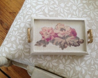 Handmade, hand painted serving tray