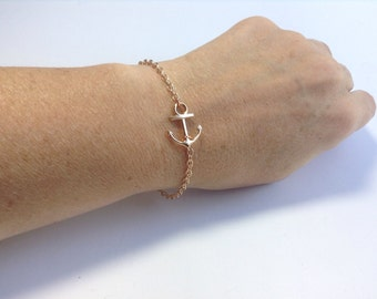 Anchor Bracelet in Rose Gold
