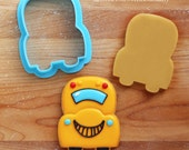 School Bus, Rocket Ship and Car Cookie Cutter and Fondant Cutter