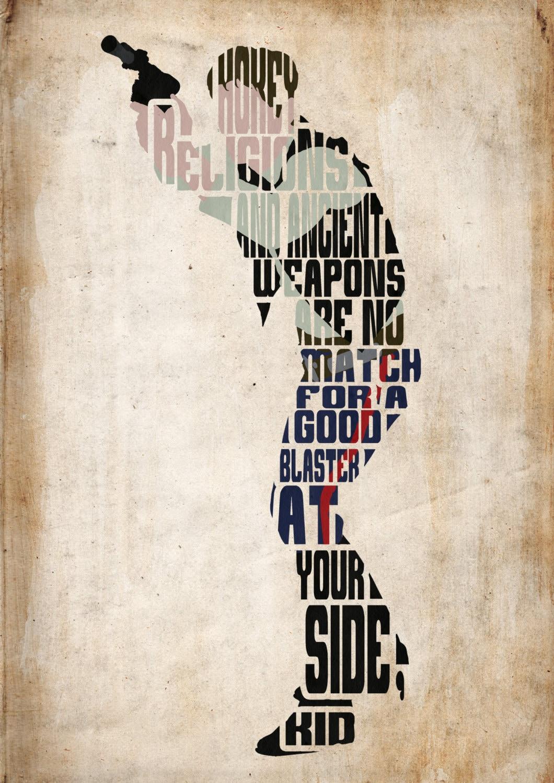 Han solo star wars poster minimalist typography poster Minimalist typography