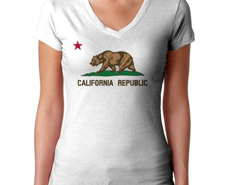 California Flag T-Shirt -  Mens and Ladies Sizes Small-3X - California TShirt - (Please see SIZING CHART in Item Details)