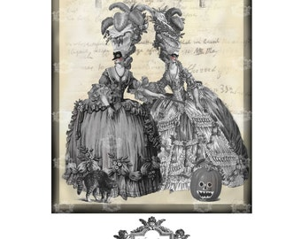 The Halloween  Ball, a Wickedly Lovely, Gothic blank art greeting card