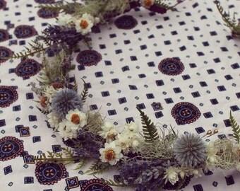 custom bridal crown, dried flower crown, indie bride, rustic bridal crown, dried flower tiara, lavender crown, boho woodland bridal crown