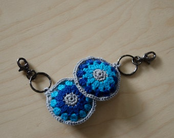 Crocheted keychain various colours.