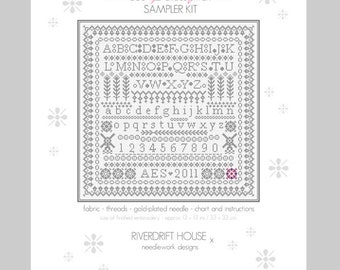 CROSS STITCH KIT Lace Spot Sampler by Riverdrift House