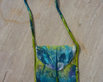 Wet Felted Merino Wool and Silk Purse