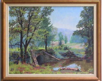 Stream one-of-a-kind professionally framed oil painting