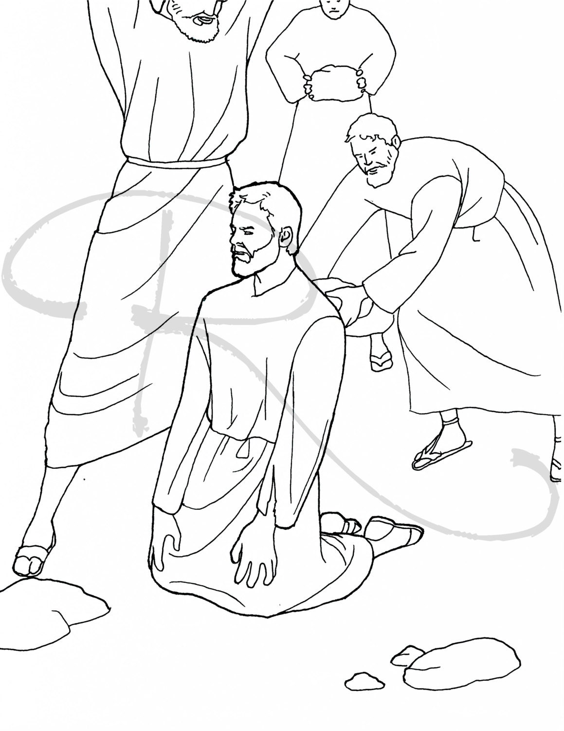 bible coloring pages stephen - photo#9