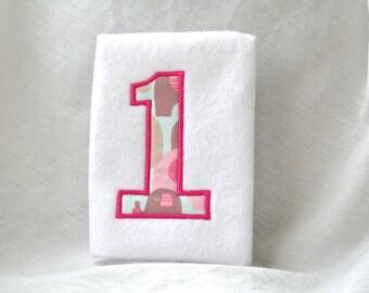 One Applique Machine Embroidery Design Pattern Download 4 Sizes Number Applique Design