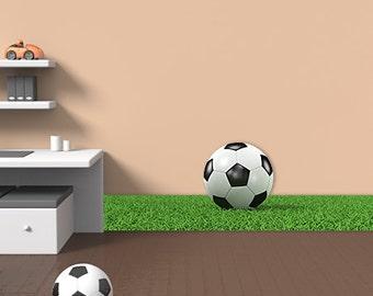 Wall decals soccer balloon A387 - Stickers ballon football A387