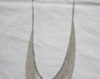 Vintage silver colored necklace