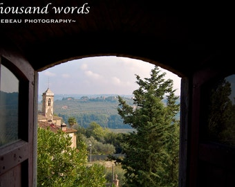 a glimpse of Tuscany - photographic print