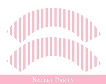 Ballet Cupcake wrappers, cupcake wrapper printable, cupcake label printable, Ballet Party Printable, Ballet Party Decorations