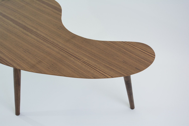 Mid Century Modern Coffee Table Walnut Kidney