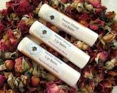 Passionfruit Rose - Lip Balm - Natural Lip Balm - Lanolin Lip Gloss - Mango Butter - Avocado Oil - Natural Beauty - Mom Gift - Rose - Favor