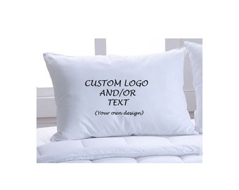 Custom Pillow Case with Logo and/or Text - Choose Your Font and Font Color