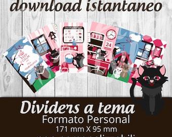 Dividers PERSONAL per filofax Chicca - Printable non personalizzabili -