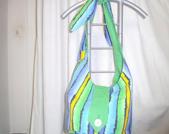 Green turn balloon bags, linen cotton, yellow, green, turning bag by himmeldurchnadeloehr