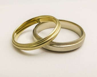 his and hers wedding rings set vintage wedding bands matching wedding bands white - Simple Wedding Ring Sets